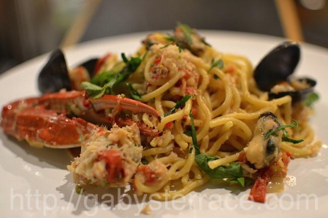 ワタリガニとムール貝のスパゲッティー