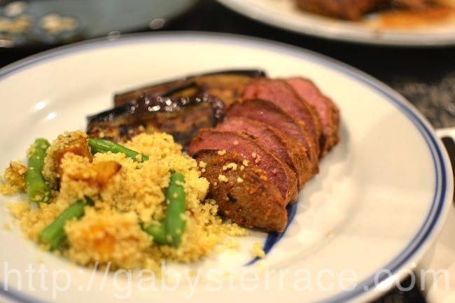 がびんちの定番、ラム肉のグリルと野菜のクスクス