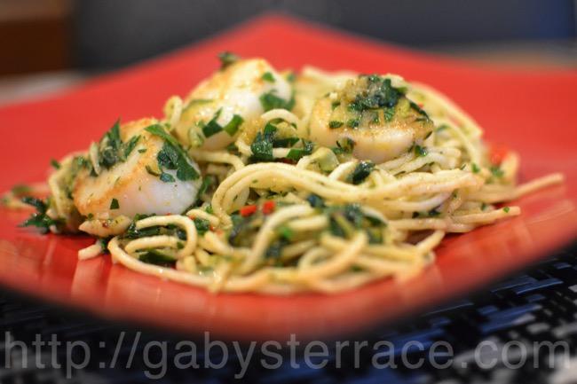 ホタテとズッキーニのスパゲッティーで「嫌なこと」を忘れよう
