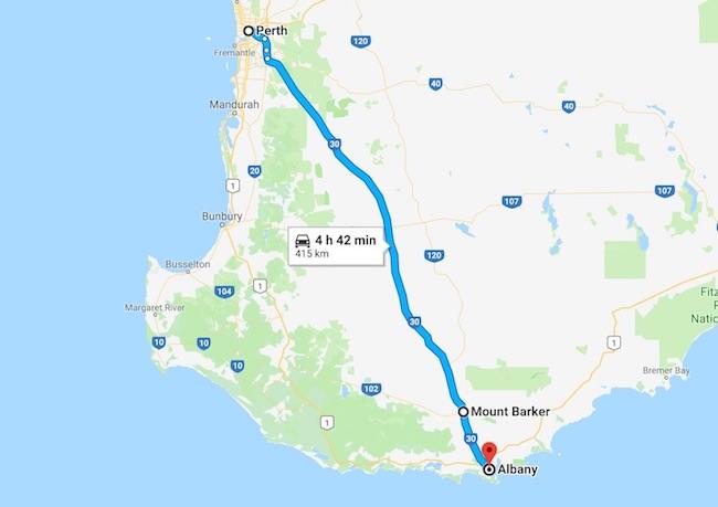 西オーストラリア南西部の小旅行:マウント・バーカーのPlantagenet